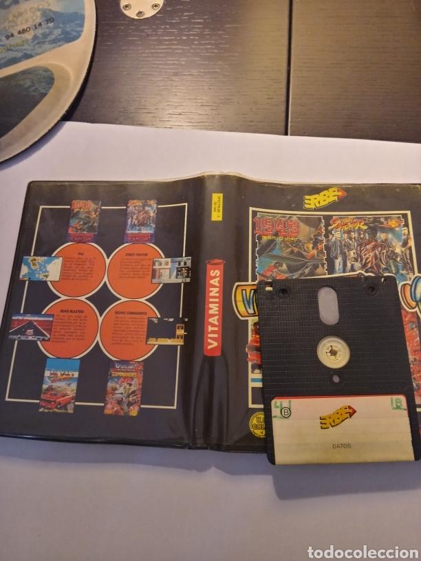 Videojuegos y Consolas: Vitaminas lote de videojuegos (1943, street fighter, road blasters, bionic commands) spectrum +3 - Foto 3 - 217994862