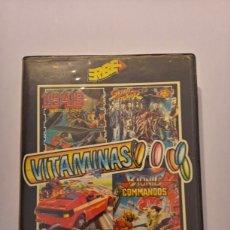 Videojuegos y Consolas: VITAMINAS LOTE DE VIDEOJUEGOS (1943, STREET FIGHTER, ROAD BLASTERS, BIONIC COMMANDS) SPECTRUM +3. Lote 217994862