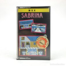 Videojuegos y Consolas: SABRINA PRECINTADO IBER SOFTWARE ESPAÑA SALERNO BOYS 1980S TETA RETRO SONY HIT BIT MSX MSX2 CASSETTE. Lote 219567481