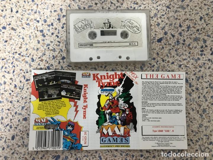 Videojuegos y Consolas: Juego Msx Knight Tyme Mastertronic Games - Foto 3 - 220400917