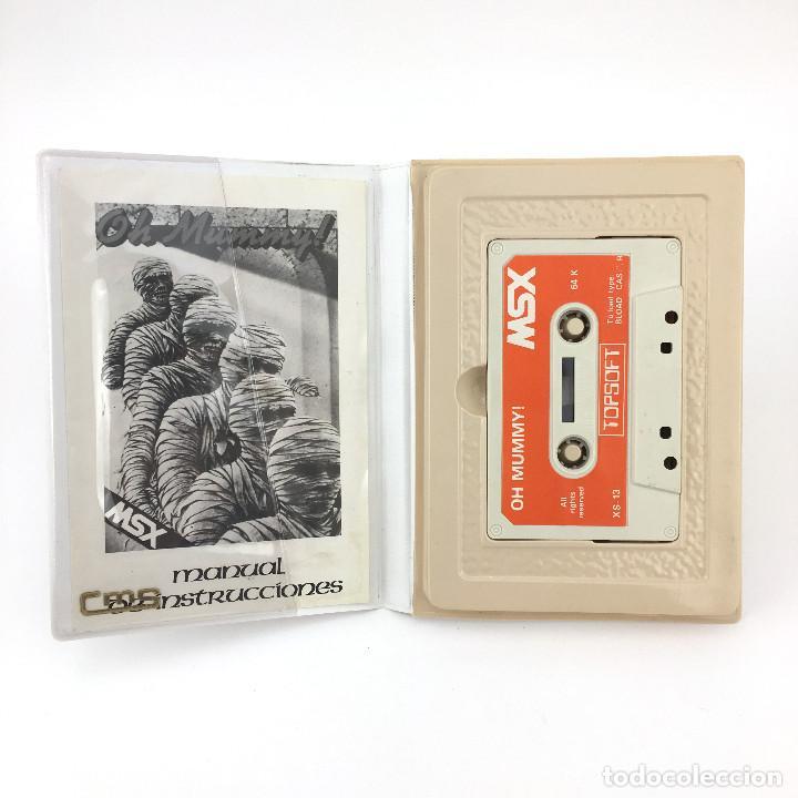 Videojuegos y Consolas: OH MUMMY ESTUCHE XL TOPSOFT MOMIA JUEGO DE ORDENADOR RETRO INFORMATICA - CINTA 64K MSX MSX2 CASSETTE - Foto 2 - 220540990