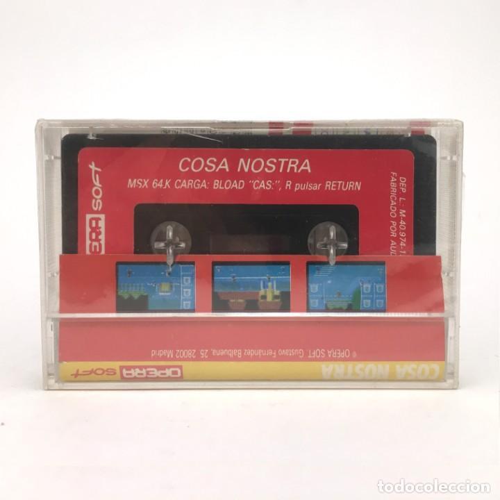 Videojuegos y Consolas: COSA NOSTRA Precintado OPERA SOFT ESPAÑA PACO SUAREZ MAFIA 1986 RETRO SONY HIT BIT MSX MSX2 CASSETTE - Foto 2 - 221138917