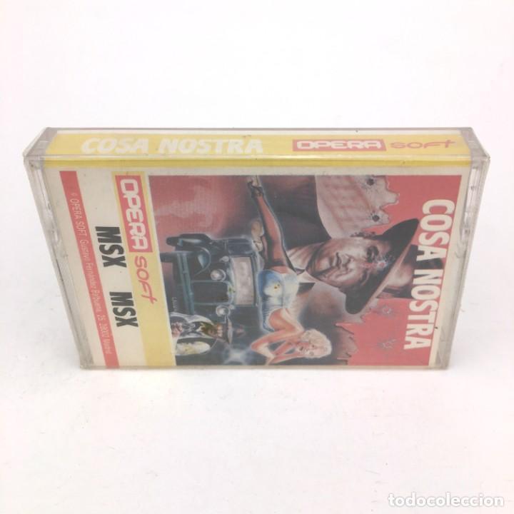 Videojuegos y Consolas: COSA NOSTRA Precintado OPERA SOFT ESPAÑA PACO SUAREZ MAFIA 1986 RETRO SONY HIT BIT MSX MSX2 CASSETTE - Foto 3 - 221138917