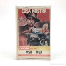 Videojuegos y Consolas: COSA NOSTRA PRECINTADO OPERA SOFT ESPAÑA PACO SUAREZ MAFIA 1986 RETRO SONY HIT BIT MSX MSX2 CASSETTE. Lote 221138917