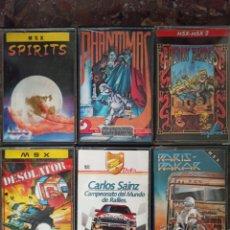 Videojuegos y Consolas: 6 JUEGOS MSX SPIRITS, DESOLATOR, PHANTOMAS 2,ETC.. NINTENDO AMSTRAD NES SEGA PC SPECTRUM. Lote 222562370