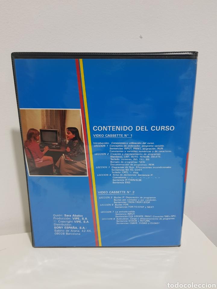 Videojuegos y Consolas: Video Basic MSX. Curso de informatica en video para ordenador MSX. Sony VHS - Foto 2 - 224083893