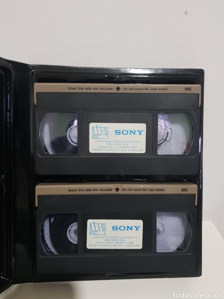 Videojuegos y Consolas: Video Basic MSX. Curso de informatica en video para ordenador MSX. Sony VHS - Foto 3 - 224083893