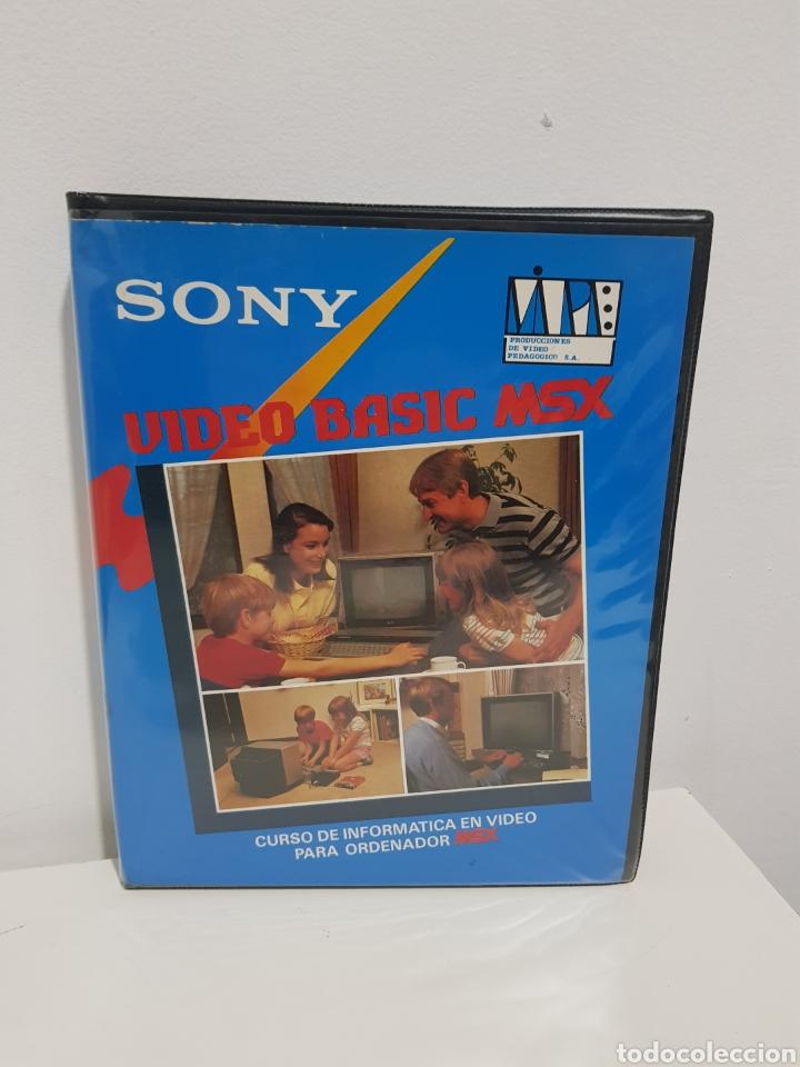 VIDEO BASIC MSX. CURSO DE INFORMATICA EN VIDEO PARA ORDENADOR MSX. SONY VHS (Juguetes - Videojuegos y Consolas - Msx)