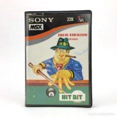 Videojuegos y Consolas: BILLAR AMERICANO ESTUCHE INDESCOMP HUDSON SOFTWARE POOL SONY HIT BIT 32K HUSTLER CINTA MSX CASSETTE. Lote 228222110