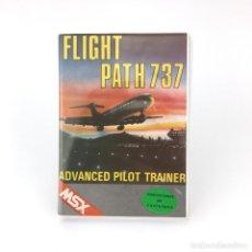 Videojuegos y Consolas: FLIGHT PATH ESTUCHE XL CMS TOPSOFT ADVANCED PILOT TRAINER AVION CLAM CASE 32K TAPE MSX MSX2 CASSETTE. Lote 228222200