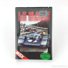 Videojuegos y Consolas: LE MANS ESTUCHE CMS TOPSOFT XS-12 CAR RACING CARRERA COCHE 48K CLAM CASE 48K TAPE MSX MSX2 CASSETTE. Lote 228222285