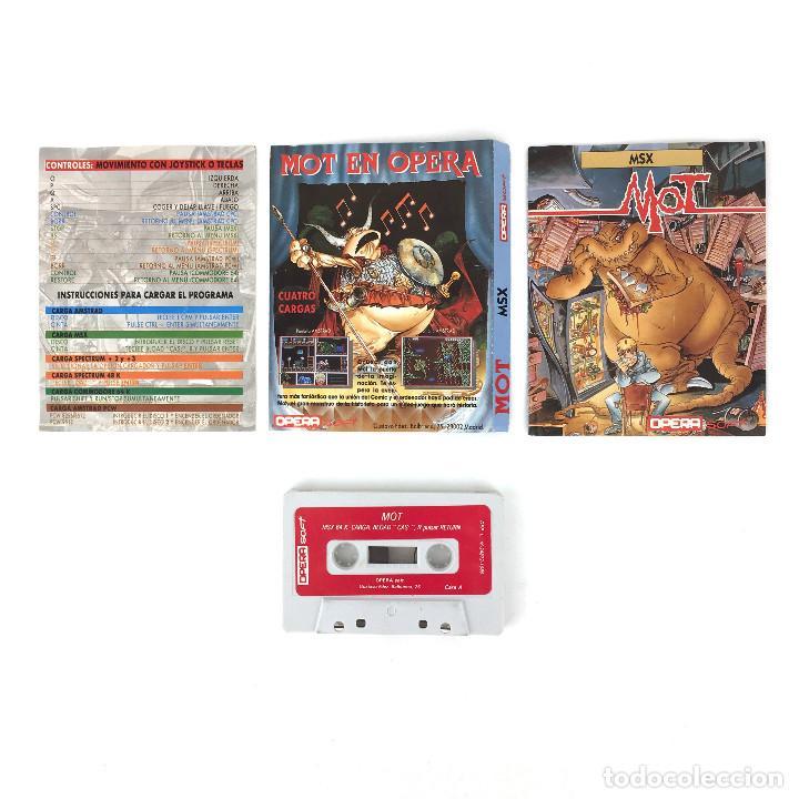Videojuegos y Consolas: MOT - OPERA SOFT ESPAÑA ALFONSO AZPIRI Y NACHO 1989 JUEGO EN CINTA PARA ORDENADOR MSX CASSETTE MSX2 - Foto 2 - 229238700