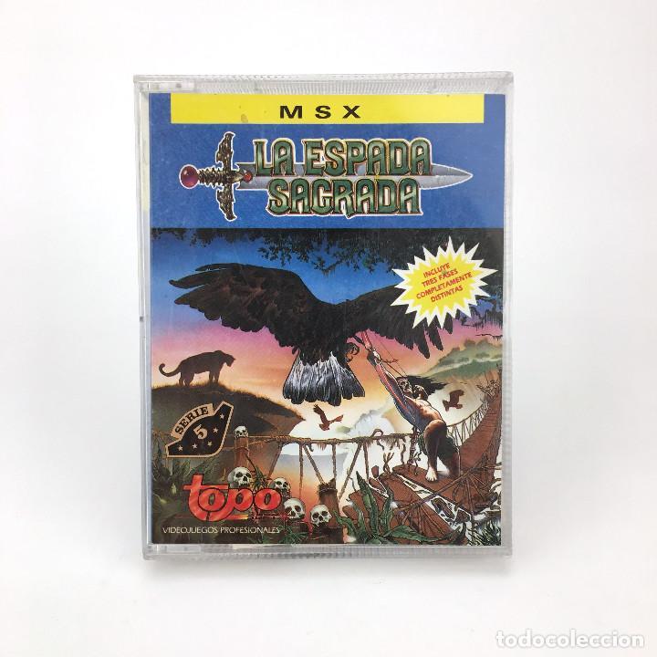LA ESPADA SAGRADA - TOPO SOFT ESPAÑA 1990 VIDEOAVENTURA TPM JORGE AZPIRI ORDENADOR MSX CASSETTE MSX2 (Juguetes - Videojuegos y Consolas - Msx)