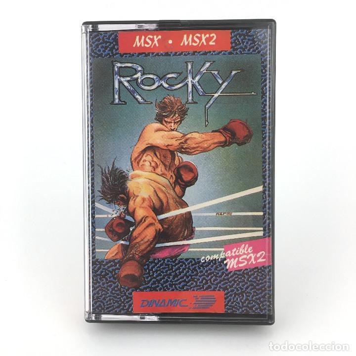 ROCKY / DINAMIC SOFTWARE ESPAÑA 1985 ALFONSO AZPIRI ROCCO BOXING BOXEO JUEGO CINTA MSX2 MSX CASSETTE (Juguetes - Videojuegos y Consolas - Msx)
