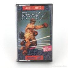 Videojuegos y Consolas: ROCKY / DINAMIC SOFTWARE ESPAÑA 1985 ALFONSO AZPIRI ROCCO BOXING BOXEO JUEGO CINTA MSX2 MSX CASSETTE. Lote 230644155