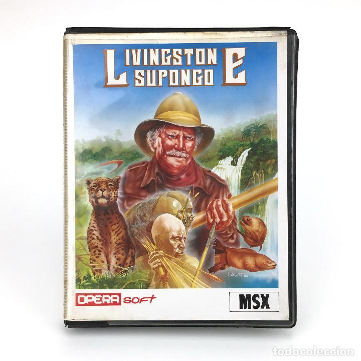 LIVINGSTONE SUPONGO ESTUCHE XXL OPERA SOFT ESPAÑA VIDEOAVENTURA LAUGI / I PRESUME JUEGO MSX CASSETTE (Juguetes - Videojuegos y Consolas - Msx)