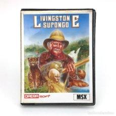 Videojuegos y Consolas: LIVINGSTONE SUPONGO ESTUCHE XXL OPERA SOFT ESPAÑA VIDEOAVENTURA LAUGI / I PRESUME JUEGO MSX CASSETTE. Lote 231900830