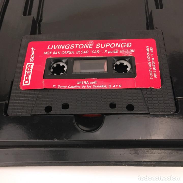 Videojuegos y Consolas: LIVINGSTONE SUPONGO ESTUCHE XXL OPERA SOFT ESPAÑA VIDEOAVENTURA LAUGI / I PRESUME JUEGO MSX CASSETTE - Foto 2 - 231900830