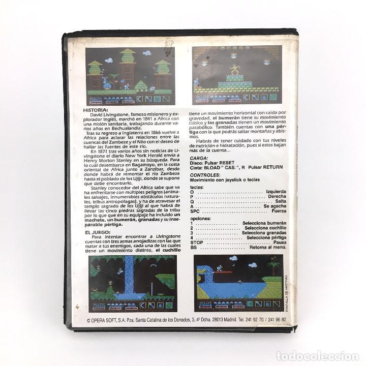 Videojuegos y Consolas: LIVINGSTONE SUPONGO ESTUCHE XXL OPERA SOFT ESPAÑA VIDEOAVENTURA LAUGI / I PRESUME JUEGO MSX CASSETTE - Foto 3 - 231900830