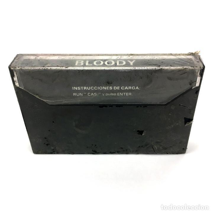 Videojuegos y Consolas: BLOODY Precintado. PJ SOFT SYGRAN GENESIS ESPAÑA 1987 ARCADE PLATAFORMAS ORDENADOR MSX MSX2 CASSETTE - Foto 2 - 231984320