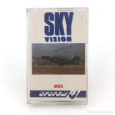 Videojuegos y Consolas: SKY VISION SYSTEM 4 ESPAÑA 1988 ALIEN MISSILE WAR AIRPLANE FIGHTER JUEGO ORDENADOR MSX MSX2 CASSETTE. Lote 231985435