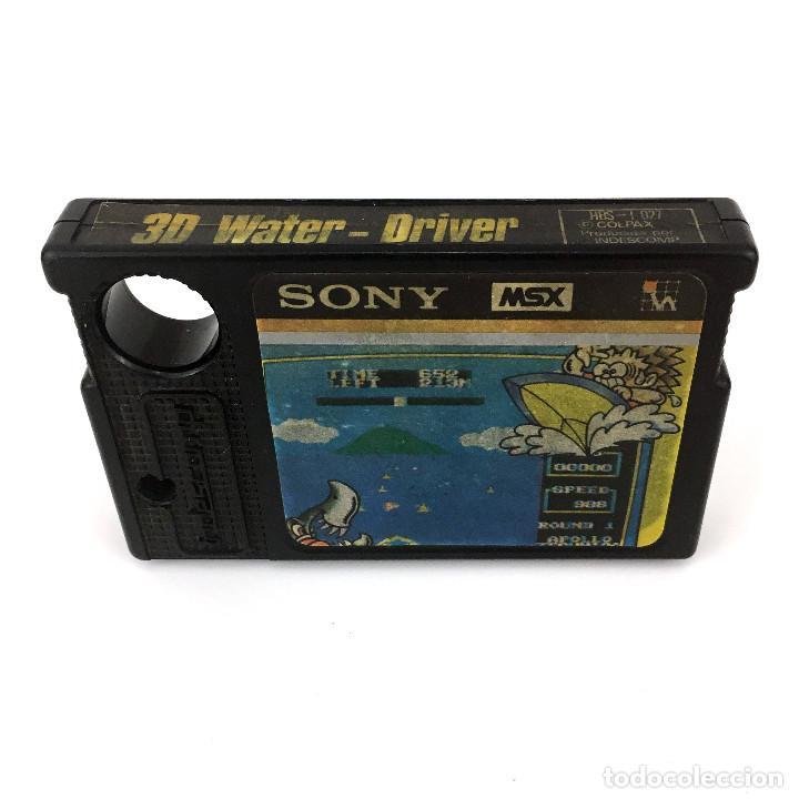 Videojuegos y Consolas: CARTUCHO 3D WATER DRIVER + CAJA Y MANUAL DUNK SHOT Indescomp Sony CARTRIDGE JUEGO RETRO MSX2 MSX ROM - Foto 2 - 232081875