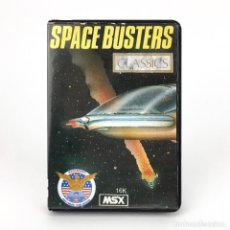 Videojuegos y Consolas: SPACE BUSTERS / ESTUCHE BYTEBUSTERS EAGLESOFT AACKOSOFT ESPAÑA 1986 JUEGO 16K MSX2 GAME MSX CASSETTE. Lote 232108490