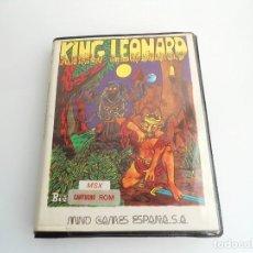 Videojuegos y Consolas: KING LEONARD - JUEGO CARTUCHO MSX COMPLETO - MGE MIND GAMES ESPAÑA 1986 - MUY RARO. Lote 231475710