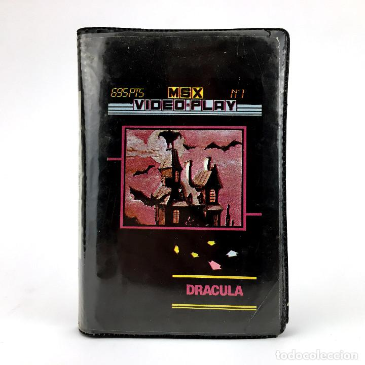 DRACULA MSX VIDEO PLAY Nº 1 ESTUCHE PPP GENESIS 1986 / ATIC-ATAC WAMPCOLA WIZARD'S LAIR MSX CASSETTE (Juguetes - Videojuegos y Consolas - Msx)