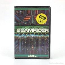 Videojuegos y Consolas: BEAMRIDER ESTUCHE PROEIN SOFT LINE ESPAÑA 1985 ACTIVISION DAVE ROLFE JUEGO DE DISPAROS MSX CASSETTE. Lote 232195955
