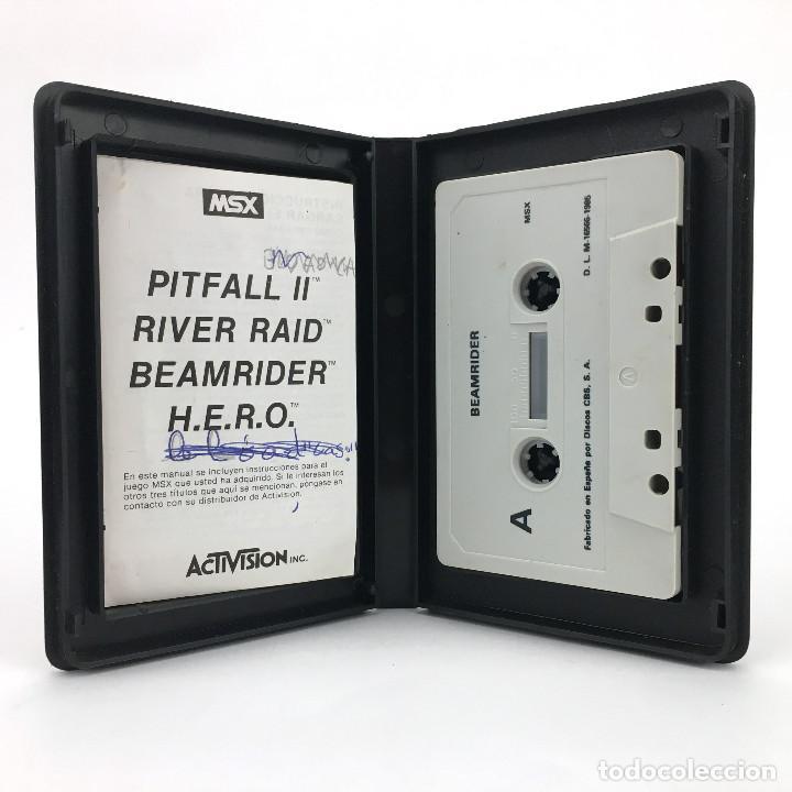Videojuegos y Consolas: BEAMRIDER ESTUCHE PROEIN SOFT LINE ESPAÑA 1985 ACTIVISION DAVE ROLFE JUEGO DE DISPAROS MSX CASSETTE - Foto 2 - 232195955
