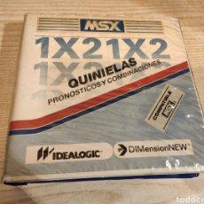 Videojuegos y Consolas: MSX 1X2 QUINIELAS PRONOSTICOS Y COMBINACIONES - IDEALOGIC DIMENSIONNEW 1986 CASSETTE CINTA ESTUCHE. Lote 232215245