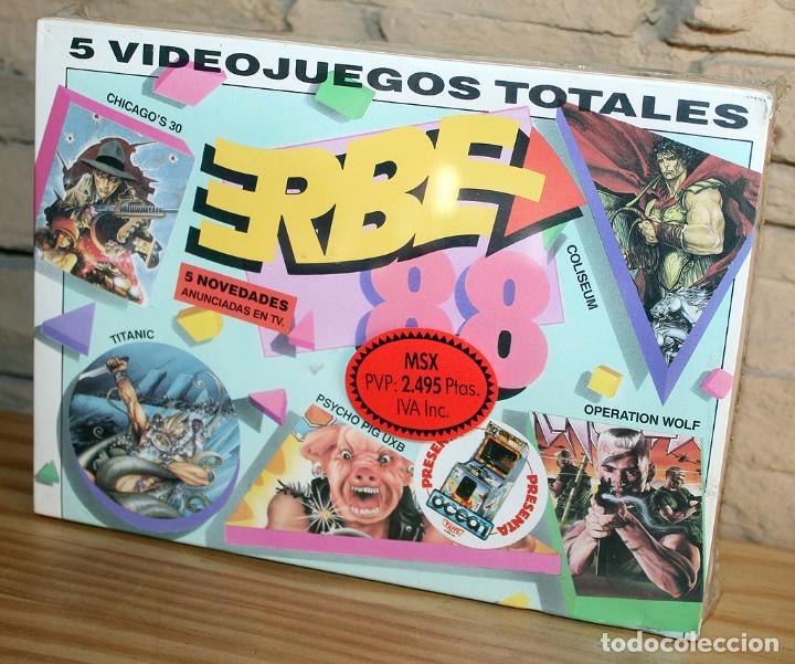 ERBE 88 - PACK DE 5 JUEGOS - NUEVO Y PRECINTADO - MSX - CASSETTE (Juguetes - Videojuegos y Consolas - Msx)