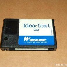 Videojogos e Consolas: IDEA-TEXT, EN CARTUCHO PARA MSX. Lote 234717695