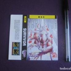 Videojuegos y Consolas: SURVIVOR - MSX - ERBE - SOLO CARATULA - NUEVA -. Lote 235483540