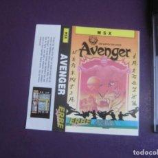 Videojuegos y Consolas: AVENGER - MSX - ERBE - SOLO CARATULA - NUEVA -. Lote 235483950