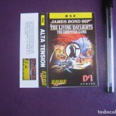 Videojuegos y Consolas: JAMES BOND 007 - LIVING DAYLIGHTS - MSX - ERBE - SOLO CARATULA - NUEVA -. Lote 235484315