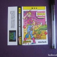 Videojuegos y Consolas: COSMIC SHOCK ABSORBER - MSX - ERBE - SOLO CARATULA - NUEVA -. Lote 235484540