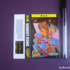 Videojuegos y Consolas: DONKEY KONG - MSX - ERBE - SOLO CARATULA - NUEVA -. Lote 235484645