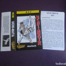 Videojuegos y Consolas: UCHI MATA - MSX - ERBE - SOLO CARATULA - NUEVA - CON LIBRETO DE INSTRUCCIONES. Lote 235484860