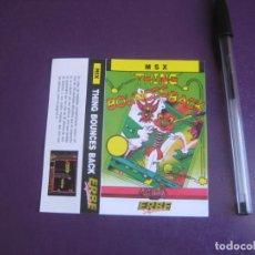 Videojuegos y Consolas: THING BOUNCES BACK - MSX - ERBE - SOLO CARATULA - NUEVA -. Lote 235485065