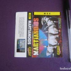 Videojuegos y Consolas: MARTIANOIDS - MSX - ERBE - SOLO CARATULA - ESQUINA SUP DCHA PELIN DOBLADA -. Lote 235485225
