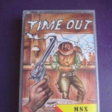 Videojuegos y Consolas: TIME OUT - MSX - VIDEOJUEGO VINTAGE ZAFIRO 1988 - DIRIA Q SIN ESTRENAR. Lote 235926360