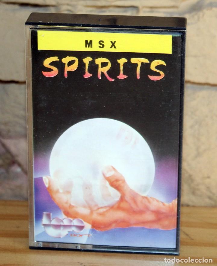 SPIRITS - MSX - TOPO SOFT - 1987 - MUY BUEN ESTADO - FUNDA + CASETE + CARATULA (Juguetes - Videojuegos y Consolas - Msx)