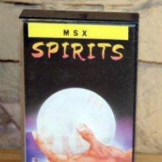 Videojuegos y Consolas: SPIRITS - MSX - TOPO SOFT - 1987 - MUY BUEN ESTADO - FUNDA + CASETE + CARATULA. Lote 236879775
