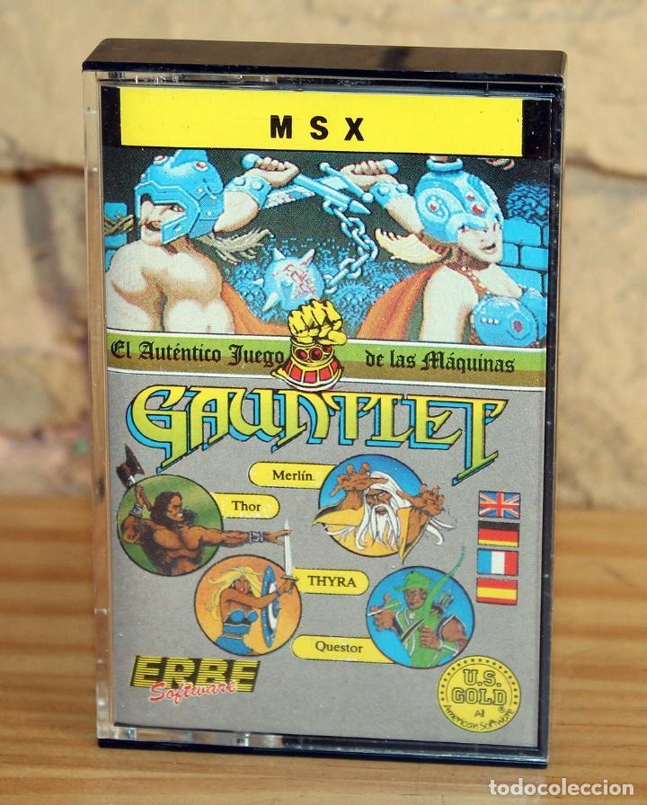 GAUNTLET - MSX - THE DEEPER DUNGEONS - 1987 - MUY BUEN ESTADO - FUNDA + CASETE + CARATULA (Juguetes - Videojuegos y Consolas - Msx)