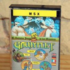 Videojuegos y Consolas: GAUNTLET - MSX - THE DEEPER DUNGEONS - 1987 - MUY BUEN ESTADO - FUNDA + CASETE + CARATULA. Lote 236880445