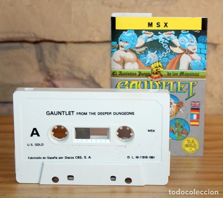 Videojuegos y Consolas: GAUNTLET - MSX - THE DEEPER DUNGEONS - 1987 - MUY BUEN ESTADO - FUNDA + CASETE + CARATULA - Foto 4 - 236880445