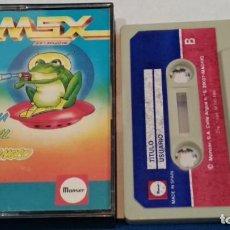 Videojuegos y Consolas: MSX JUEGO MSX CASETE ( RANA SIDERAL - GUSANOCO) 1986 MONSER Nº 8 - BIEN CUIDADO. Lote 241964715