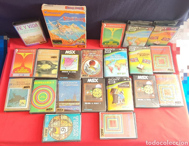 GRAB LOTE DE CASSETES DE MSX (Juguetes - Videojuegos y Consolas - Msx)
